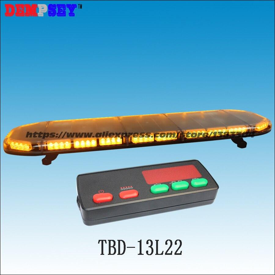 TBD-13L22 LED amber warning lightbar 49, engineering/emergency,DC12V/24V Car Roof Flash Strobe lightbar,with controller-3K