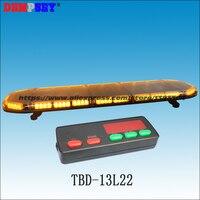 Tbd 13l22 светодиодный Amber предупреждающий световой 49 , инженерных/аварийной ситуации, DC12V/24 В крыши автомобиля вспышки стробоскоп lightbar, с