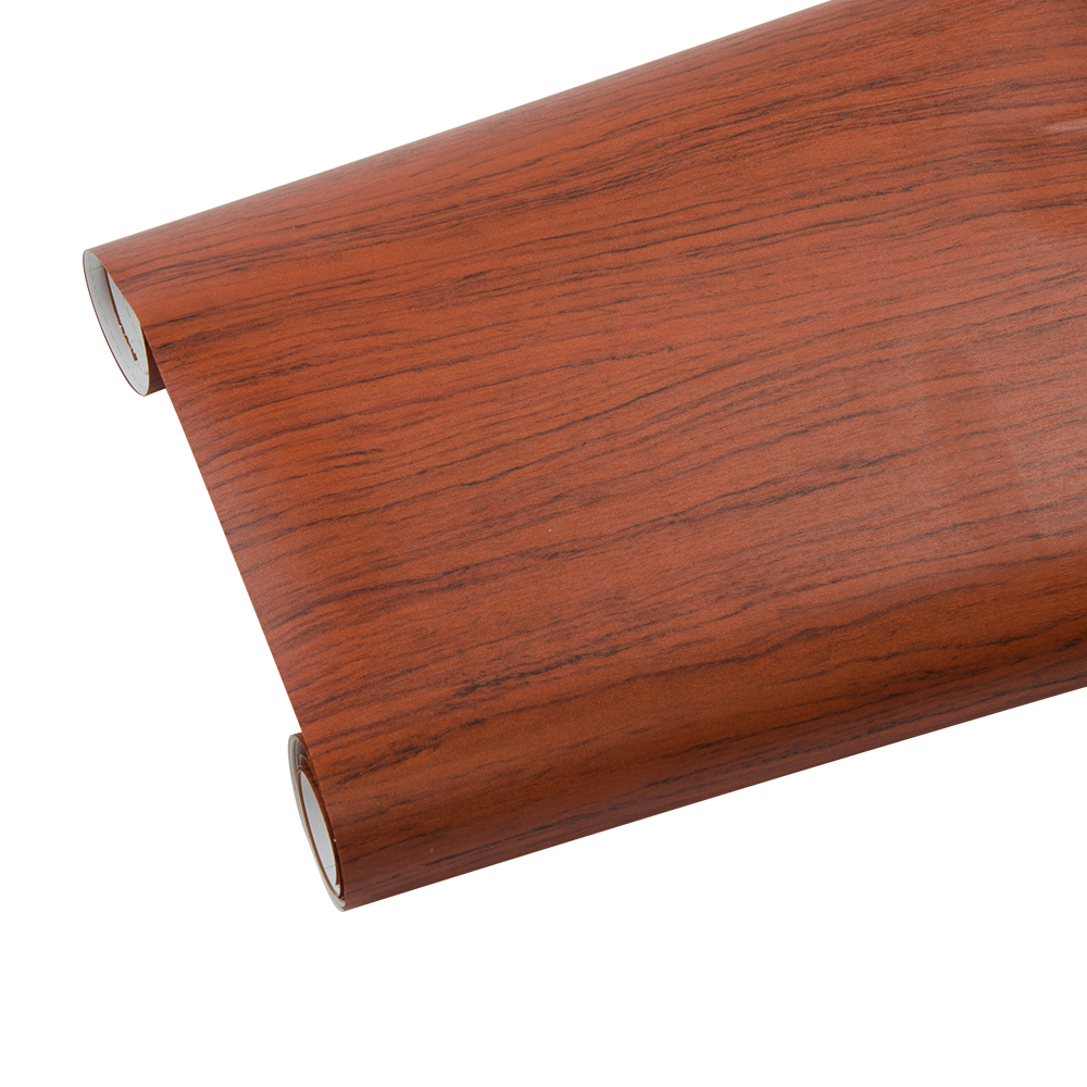 Auto-adhésif de Grain de Bois Papier Peint Étanche Vieux Meubles Autocollants En Vinyle En Bois Porte Armoire De Bureau PVC papiers Peints