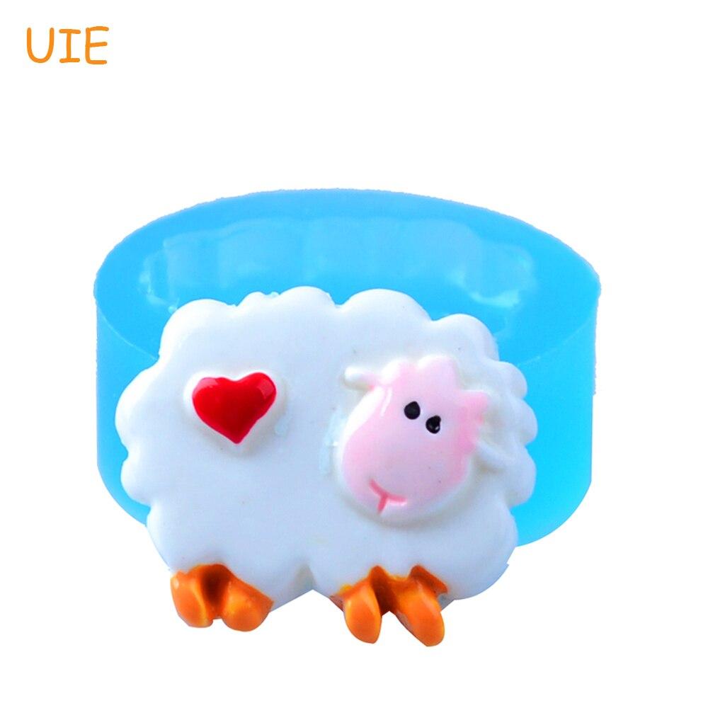 DYL255U 24mm Sheep Heart Silicone Mold - Farm Animal Mold Fondant ... 90b58709e972