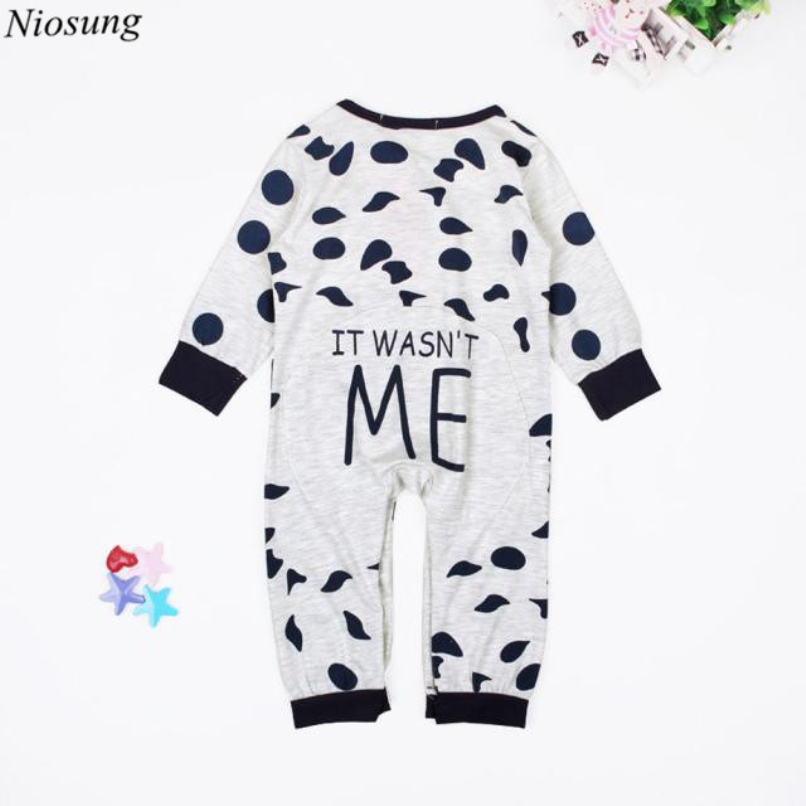 Niosung Newborn Infant Baby Boys Girls Long Sleeve Romper Jumpsuit Clothes Outfit Bebe Kids clothing Suit