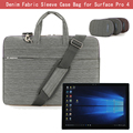 For Microsoft Surface PRO 4 / 3 12.3'' Tablet Shoulder Bag, Suit Fabric Portable Carry Case Messenger Sleeve Handbag Case