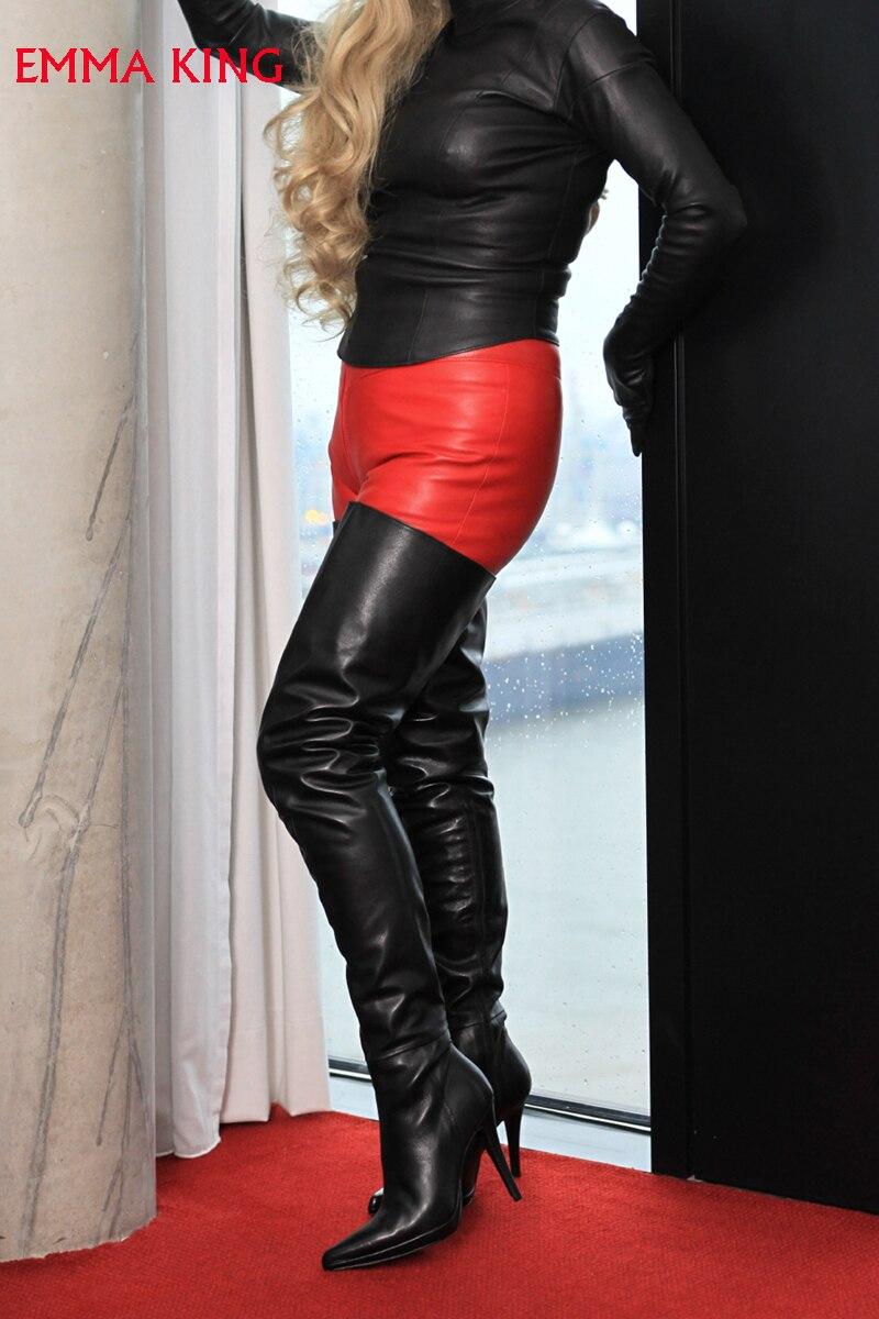 Bottes Femmes Sexy Parti Talons Éclair Haute Chaussures Sur Hauts 2019 Fermeture Picture Le Nouvelle Femme Mujer Dames Genou Pu À As Noir Qualité Botas xqcX8Y4cwC