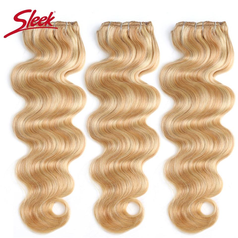 Élégant Coloré Cheveux 7 pièces Clip Dans Les Extensions De Cheveux Humains Brésiliens Vague De Corps Bonde P27/613 Couleur Cheveux Pleine Tête Ensembles Remy Cheveux
