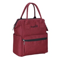 insular Fashion Nylon Backpack Waterproof Backpack Women Tote Bag Red