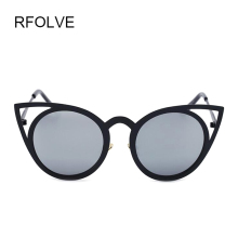 Vintage Sexy Cat Eye Sun glasses Metal Frame