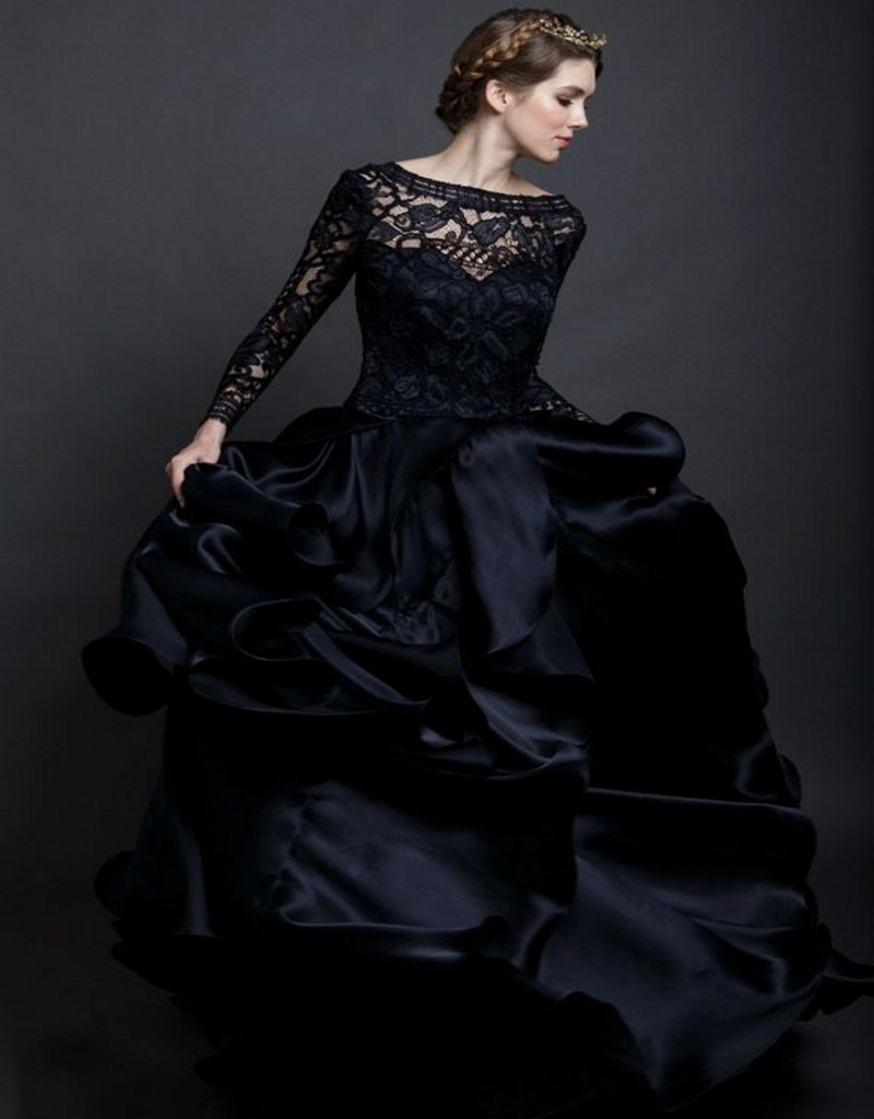 achetez en gros noir dentelle robe de mari e en ligne des grossistes noir dentelle robe de. Black Bedroom Furniture Sets. Home Design Ideas