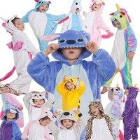 Hot Animal Onesie Cartoon Pajama Baby Pajamas Funny Animal Kids Girls Boys Stitch Children Unicorn Sleepwear