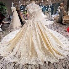 Backlake Vestido de noiva lace up gown wedding dresses 2018