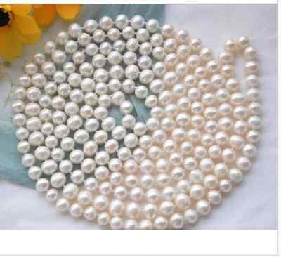classic 9-10mm south sea round white pearl necklace 48inch >Selling jewerly free shipping gogerous perfect round aaa9 10mm south sea silver grey pearl necklace 18inch selling jewerly free shipping