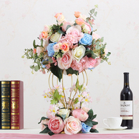 wedding decoration dining table artificial flowers ball Road cited flower Window decoration with bottom decorative flowers 1 set