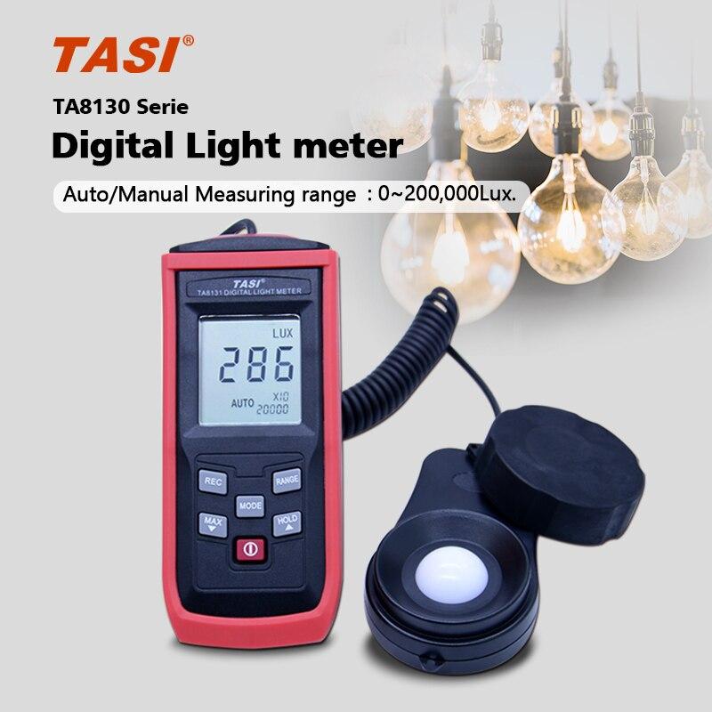 Free shipping TA8130 100000 Lux split Digital LCD backlight Pocket Light Meter Lux/FC Measure Tester Visible brightness luxmeter new professional lx1010bs digital light meter 100000 handheld lux meter