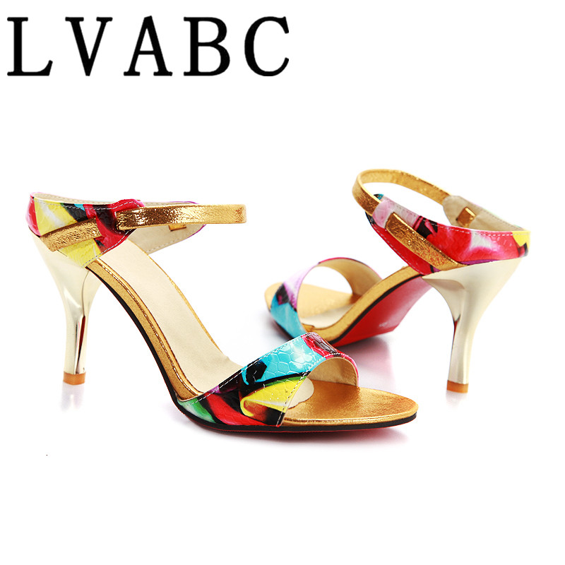 LVABC Women Sandals <font><b>Sexy</b></font> High <font><b>Heels</b></font> Women Pumps <font><b>2018</b></font> Women <font><b>Shoes</b></font> Summer Sandals <font><b>Heels</b></font> Ladies <font><b>Shoes</b></font> 31 32 33 34 35 36 37 38 40 image
