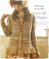 Estilo de Lolita Dulce Mori Chica de Punto de Encaje Suéter Cardigan Fulares Hijab Echarpes Crochet Vintage Hippie de Boho Étnicos Mujeres Abrigo