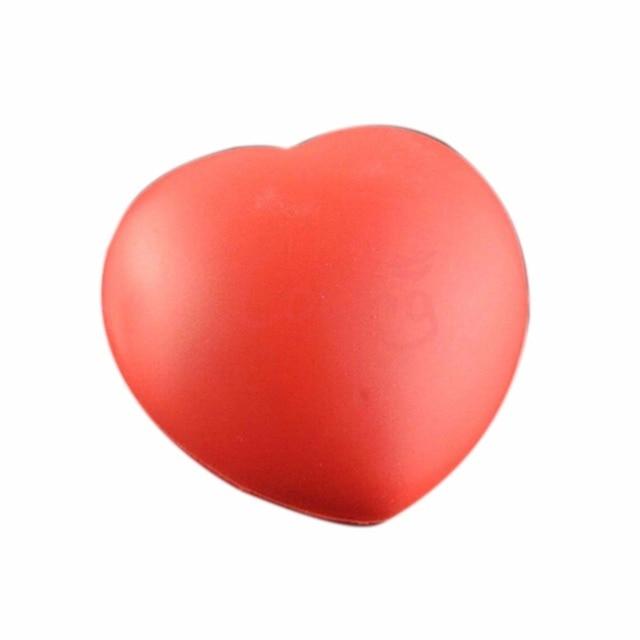 1Pcs kawaii Squishy Heart Shaped Funny Soft Foam Ball Stress Relief Squeeze Hand Wrist Soft Foam Vent Balls 7cm