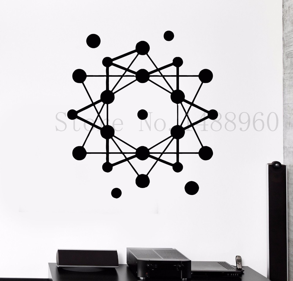 Science Atom Wall Sticker From The Mums in Science Shop