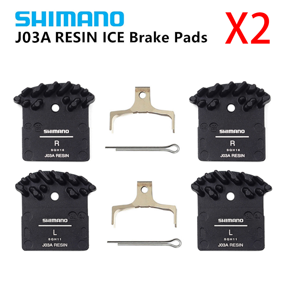 2 Pairs Shimano J02A Resin Disc Brake Pad w// Cooling Fin /& Spring XTR BR-M9020