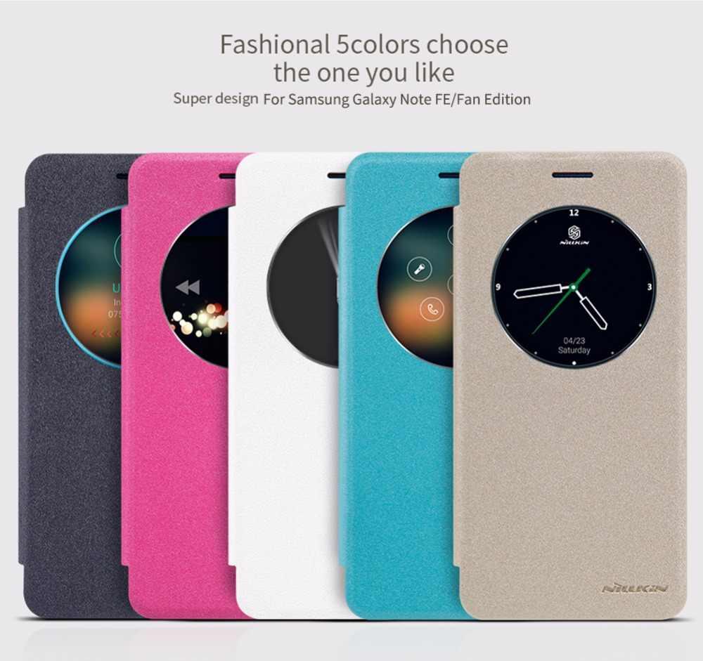 Чехол для samsung Galaxy Note fe (Fan Edition) чехол NILLKIN Sparkle window wake up sleep кожаный fe|чехол