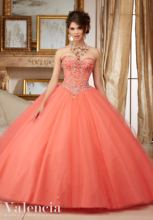Beading Coral Tulle Quinceanera Dresses Cheap A Line Floor Length Long Plus Size Quinceanera Dresses Cheap Prom Gown With Jacket