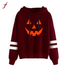 2017 New Fashion Women Halloween Long Sleeve Hoodie Sweatshirt Jumper Hooded Pullover Tops Blusa Autumn And Winter sweatshirt