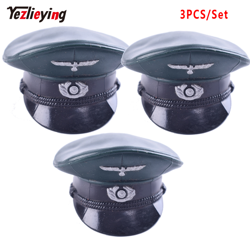 3 pçs/set 1/6 escala acessórios alemão figuras de ação roupas guerra ii grande escudo chapéu/boné modelo apto 12