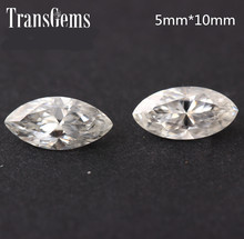 TransGems 1 Carat 5mm*10mm F Color Marquise cut moissanite Diamond Loose Stone as Real 1piece