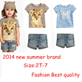 Sale!! baby girl Summer baby Clothing Sets Baby Girls Clothes Set Children's suit sets Kid Apparel set T-shirt+Shorts