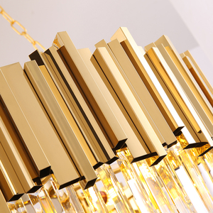Image 5 - Modern luxury round gold crystal chandelier lighting for living room dinning room zyrandol LED hanging lamp kitchen chandeliers