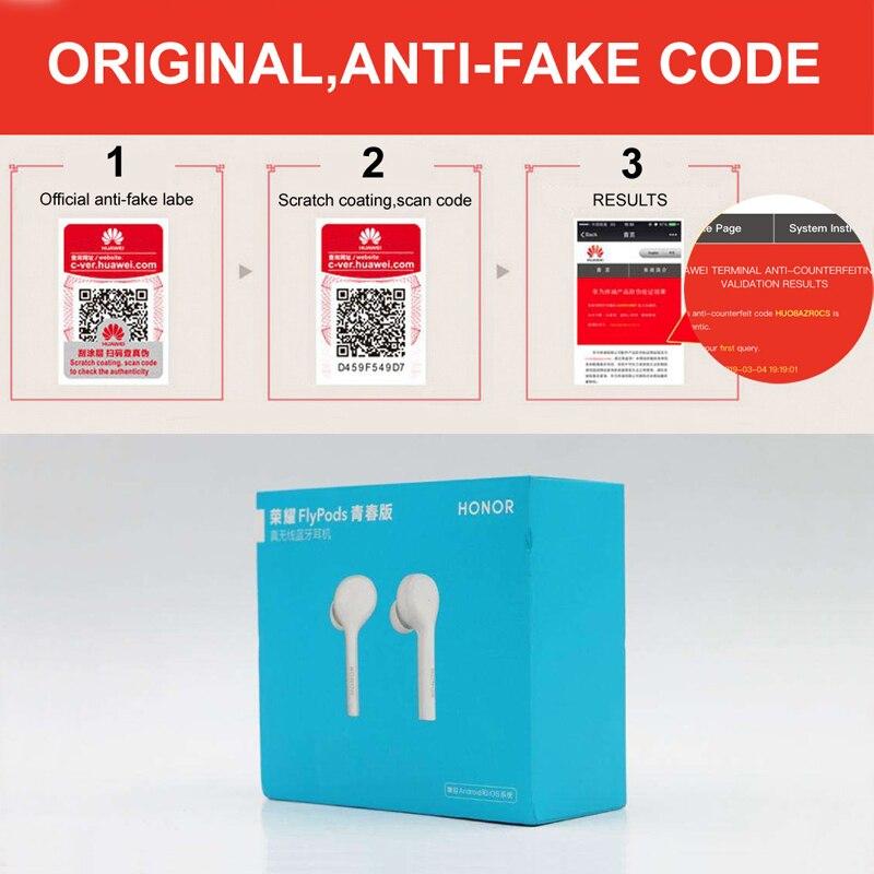 Image 5 - Huawei 社の名誉 Flypods Lite TWS ワイヤレス hi fi 防水 IP54 タップ制御ワイヤレス充電  Bluetooth 4.2    グループ上の 家電製品 からの Bluetooth イヤホン