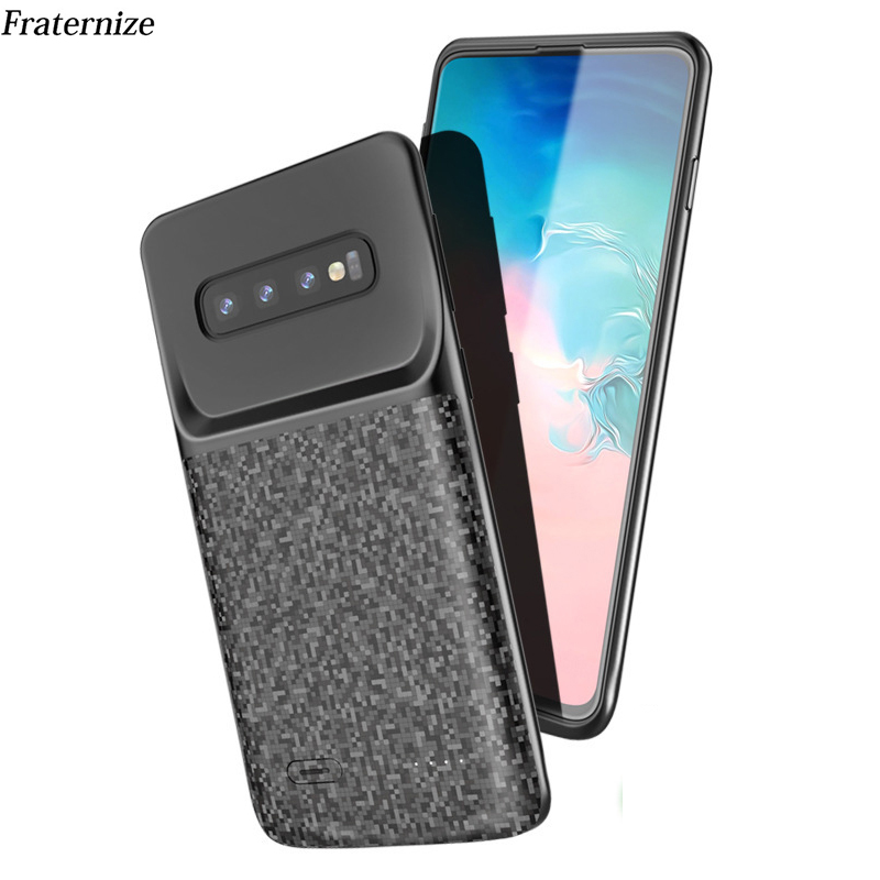 Battery case For Samsung Galaxy S10 S10e Silicone Shockproof Battery charger case Slim power bank case Cover ForSamsung S10 Plus-in Battery Charger Cases from Cellphones & Telecommunications