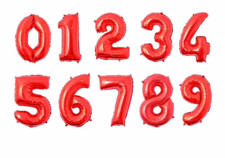 """1 шт 3 размера 16 """"/32""""/40 """"Серебряное золото цифры воздушные шары фольга поплавок надувные шары для дня рождения вечеринки Свадебные украшения"""