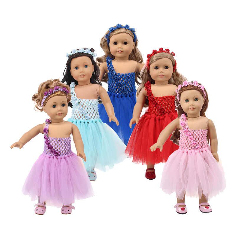 LUCKDOLL5 اللون فستان الزفاف صالح 18 بوصة الأمريكية 43 سنتيمتر ملابس دمى الطفل اكسسوارات ، بنات اللعب ، جيل ، هدية عيد ميلاد