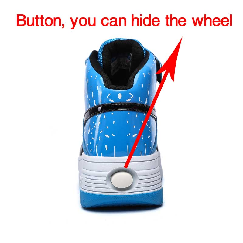2016 New Children Boys Junior Boys Roller Skate Shoes High Top Sport Shoes  Kids Sneakers With One Wheel Size 28 43-in Sneakers from Mother   Kids on  ... ed73d36e457c