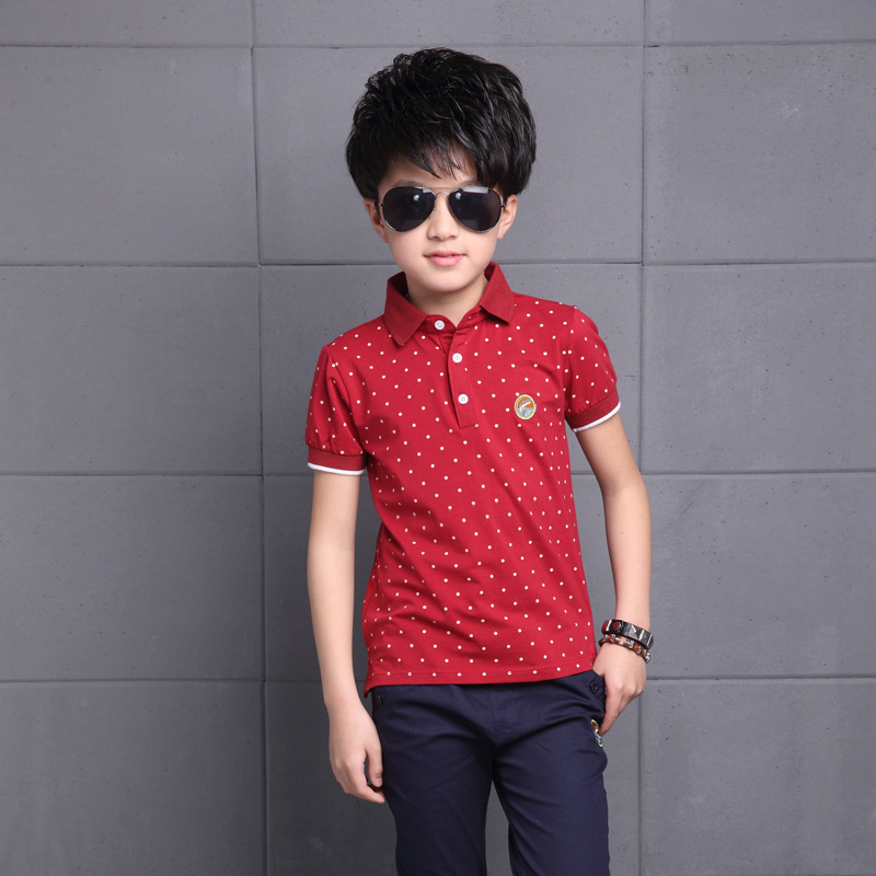 Baby Boys Kids Polo Shirt Tops 2018 Fashion Dots Boy Summer Clothing