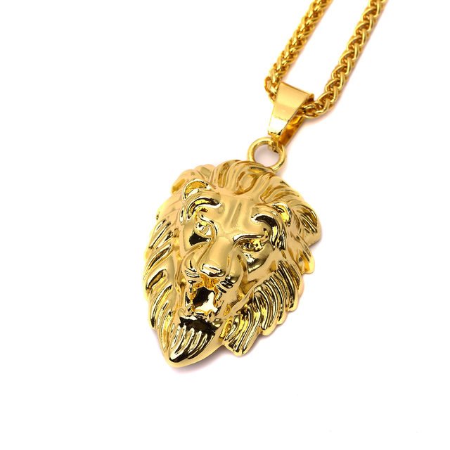 Online shop hiphop golden lion pendant necklace gold color lion hiphop golden lion pendant necklace gold color lion head neclace men hip hop dance charm franco chain male n296 aloadofball Choice Image