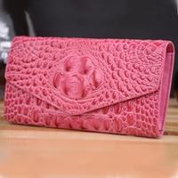2020 Women Genuine Leather Bag Alligator Cowhide Wallet Money Holder Clutch Purse Crocodile Long Wallets Coin Pocket