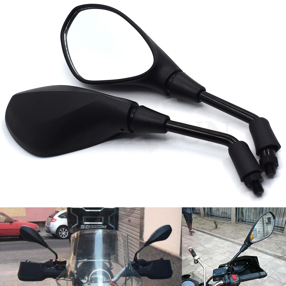 A pair of black universal mirror motorcycle rear view mirror side mirror For <font><b>BMW</b></font> K1600 K1200R K1200S R1200RT <font><b>R1200ST</b></font> R1200GS image