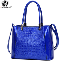 Fashion Crocodile Pattern Women Handbag Luxury Ladies Hand Bags Big Tote Bag Famous Brand Leather Crossbody Bags for Women 2019 все цены