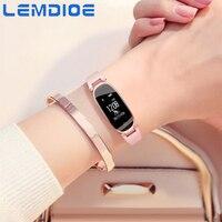 LEMDIOE Fitness Bracelet S3 Women Ladies Fashion Bluetooth Smart Bracelet Waterproof Heart Rate Monitor Fitness Tracker