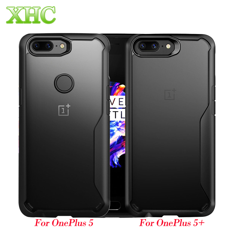OnePlus 5 Cases OnePlus 5T Covers Transparent PC TPU Full Coverage Shockproof Protective Back Case for OnePlus 5 5T