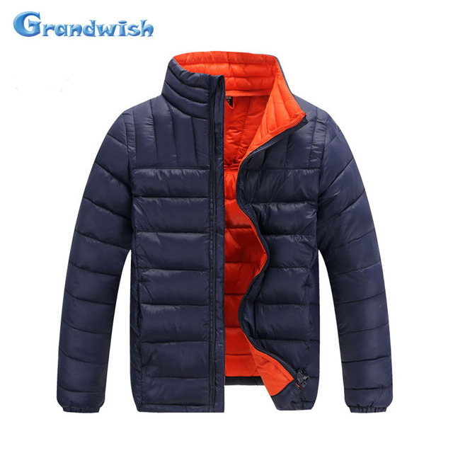Grandwish Boys Winter Clothing Kids Solid Cotton Coats Down Jacket for Children Boys Thick Jacket Casual Outerwear 6T-14T, SC555