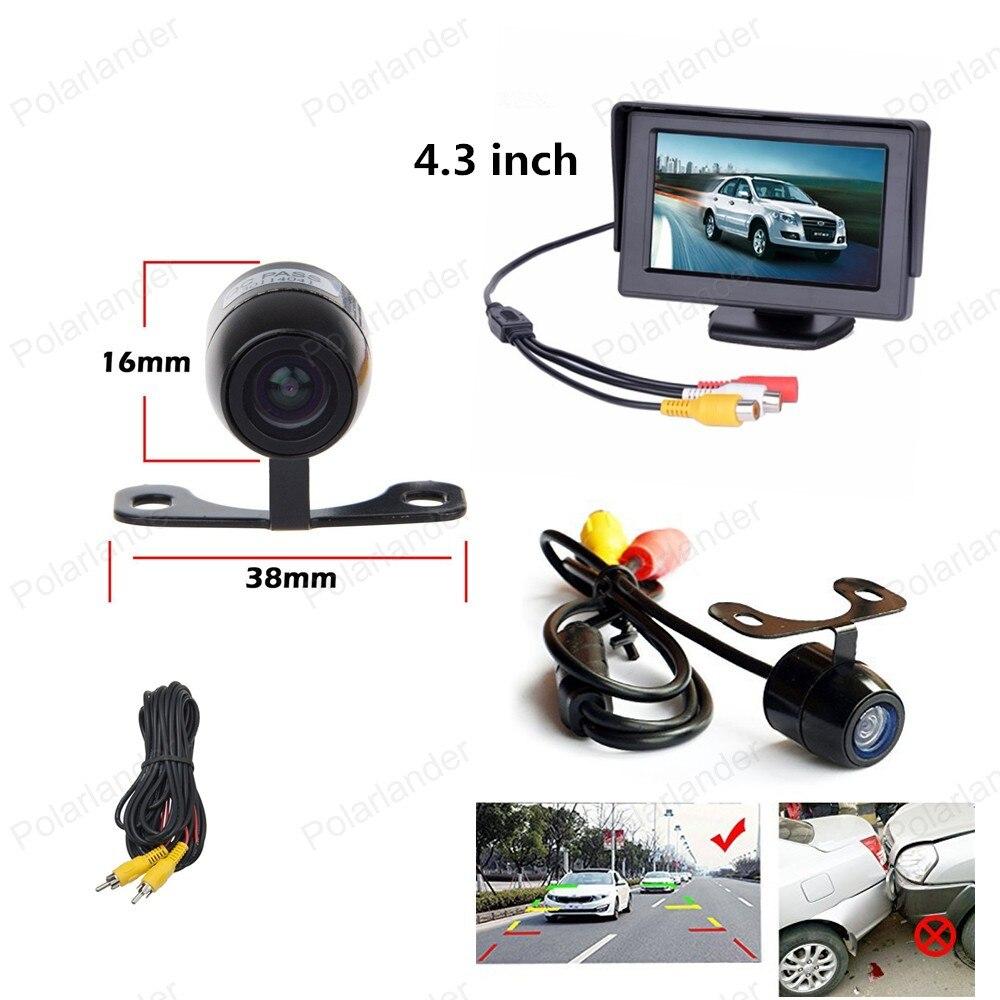 480x240 TFT ЖК дисплей 4,3 дюймов заднего вида монитор с сзади автомобиля задним ходом Обратный Парковка Камера