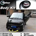 Bumper Lip Lips For Mercedes Benz Smart Fortow Forfour RoadSter / Top Gear Shop Spoiler For Car Tuning / TOPGEAR Body Kit Strip