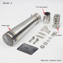 51mm Motorcycle Silencer System Modified Exhaust Muffler Tip Pipe With Remova DB Killer For Yamaha R25/30 Kawasaki Z750/800