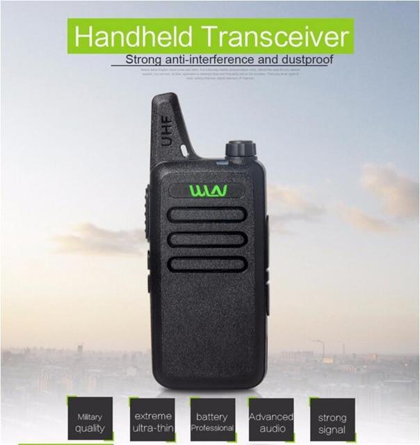 Ultra Mince Mini Talkie Walkie Professionnel Longue Portée De Poche - Talkie walkie longue portée