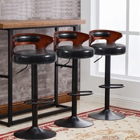 South American Fashion Bar Lifting PU Leather Stool European Cafe Restaurant Rotating Chair Retail And Wholesale