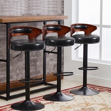 South American fashion bar lifting PU leather stool European cafe restaurant rotating chair retail and wholesale free shipping