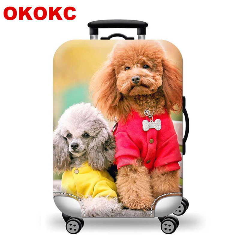 OKOKC Dog Luggage Cover For 18-32 Inch Trolley Suitcase Protect Dust Bag Case Travel Accessory