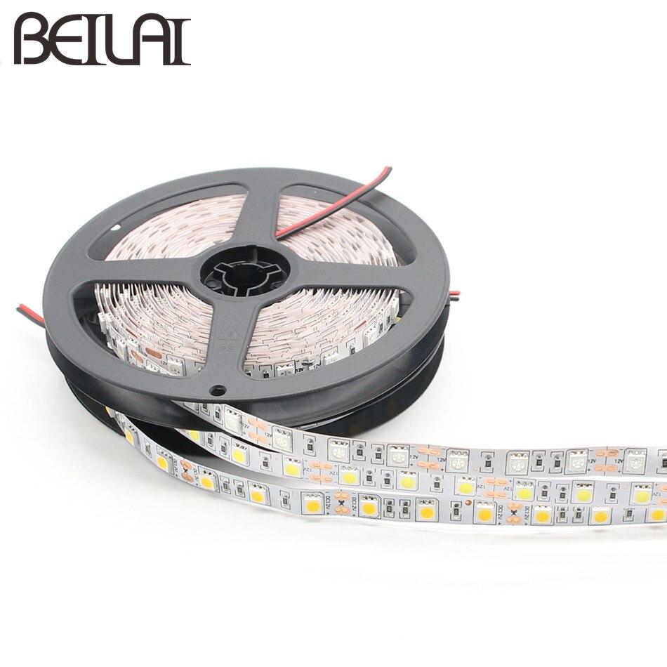 DC 12V RGB LED Strip 5050 5M 300LED Not Waterproof Fita LED Light Strip Flexible Neon Tape Luz Tira LED 12V Ledstrip