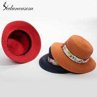 Sedancasesa Portable Ladies Summer Sun Hat Straw Hats for Women Large Brim Beach Sun Caps Foldable Sun Hat Cap Female